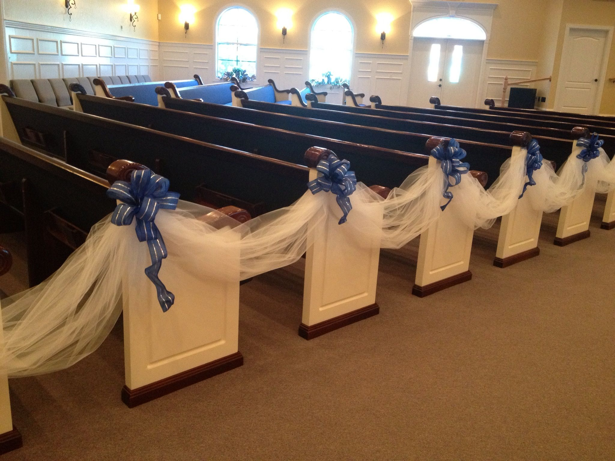 Royal Blue And Silver Aisle Runner Wedding Ideas