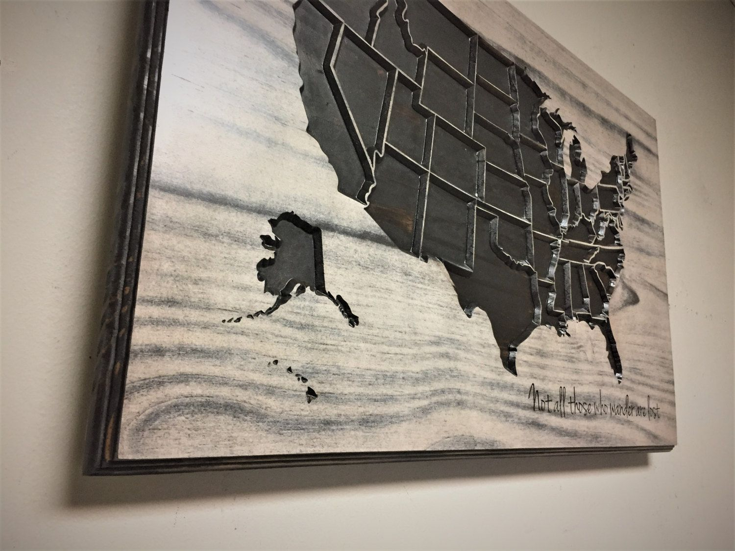 United States Map Wall Decor.United States Map Wall Decor Carved Us Map Wood Wall Art By