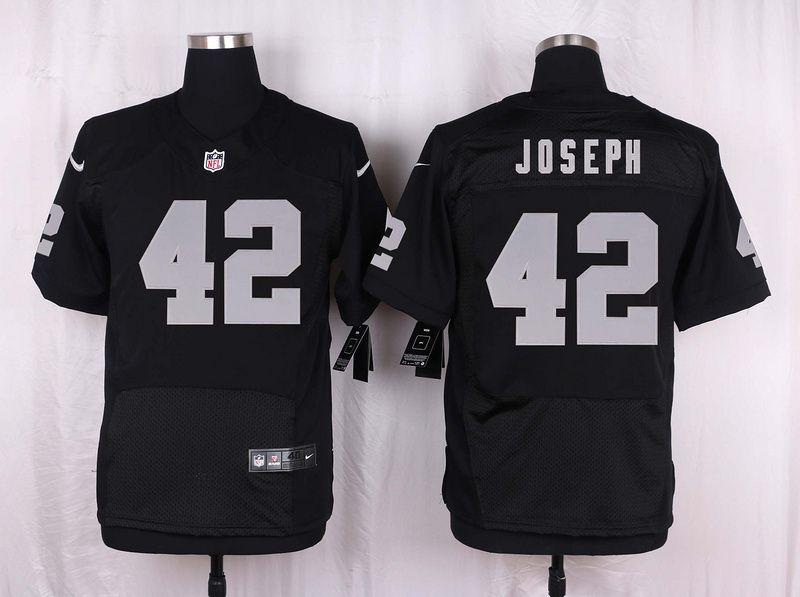 Men's Oakland Raiders #42 Ronnie Lott Elite Black Team Color NFL Jersey