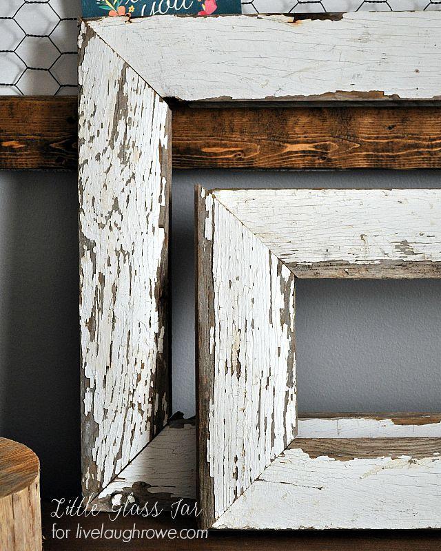 LOVE these! Super easy DIY Farmhouse Frames by Little Glass Jar ...