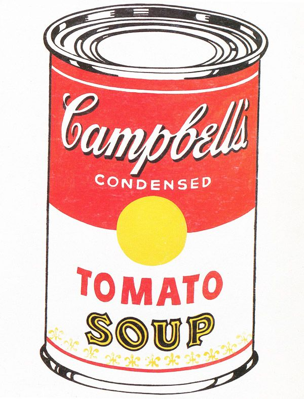 an analysis of pop art in andy warhols cambells soup can painting Andy warhol's marilyn prints  key figure in pop art,  are printed using a rubber squeegee to press the paint onto the painting through the.
