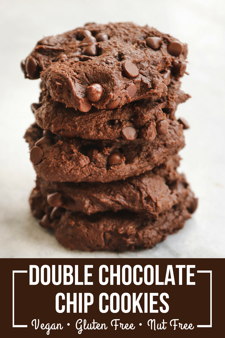Double Chocolate Chip Cookies Vegan Gluten Free Nut Free