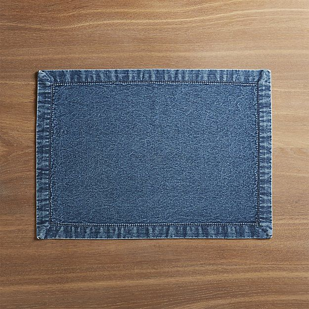 Denim Placemat Crate And Barrel Crate And Barrel Placemats