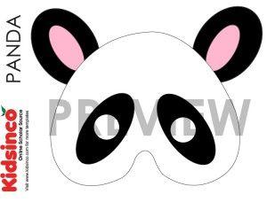 Pand Mask Panda Pattern Template