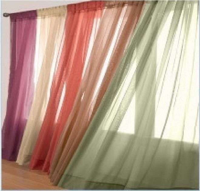 1 Pcs Sheer Voile Window Panel Curtains 20 Different Colors Brand