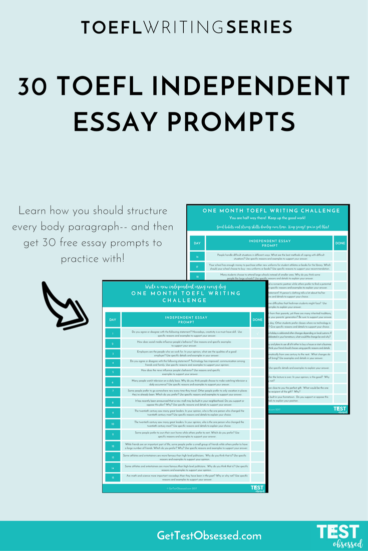 Prepare For Toefl Writing Easily With This List Of 30 Free Essay