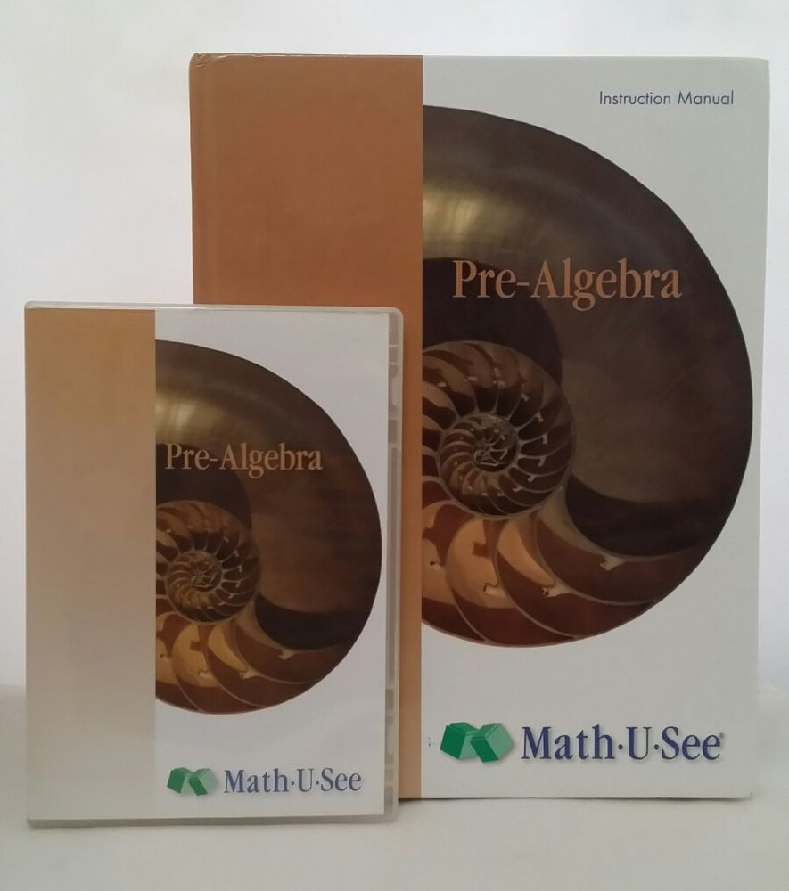 Math U See Pre-Algebra Instruction Manual PLUS DVD 2 Disk Set ~ FREE ...