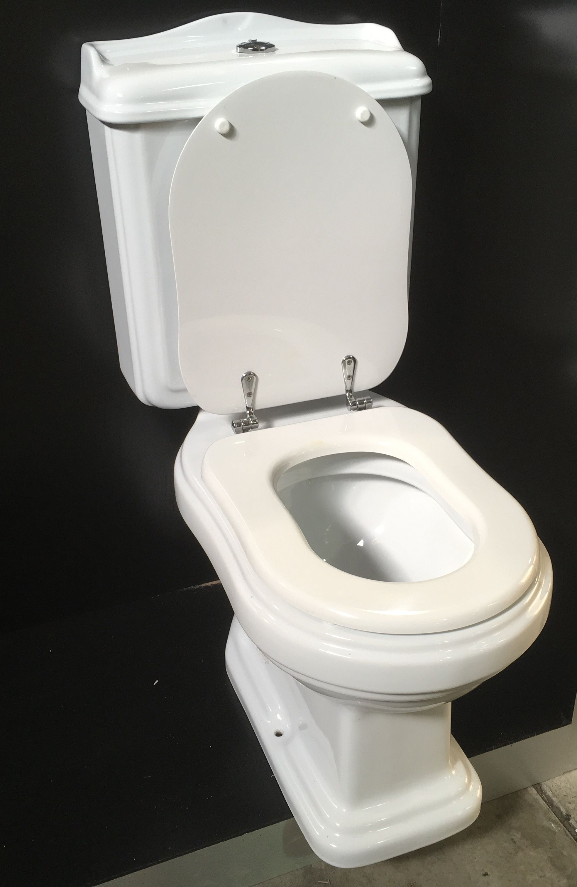 The styling of this heritage style toilet would suit an Art Deco ...