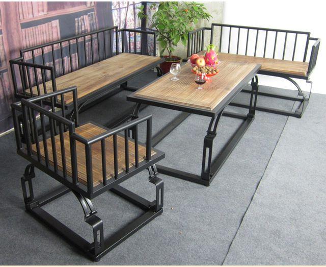 Muebles país de américa sala mesa de café de hierro forjado mesa de ...