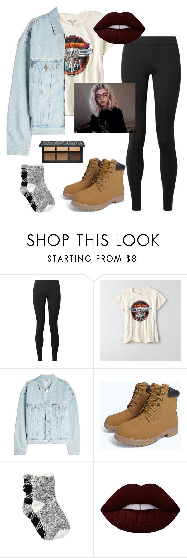 """""""Throw back thrift shop"""" by faith-32 on Polyvore featuring The Row, American Eagle Outfitters, Yeezy by Kanye West, Free Press and Lime Crime"""