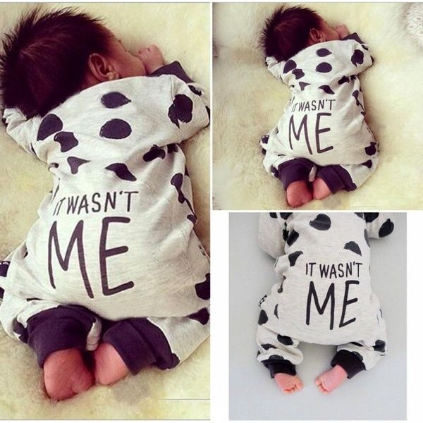 Newborn Baby Kid Girls Boys Long Sleeve Bodysuit Romper Jumpsuit Outfits Clothes