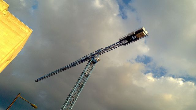 Crane and Clouds by Tom Ipri, via Flickr