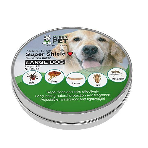 Natural Flea Collar For Dogs Prevent Fleas Ticks Lice And Mosquitoes All Natural Chemical And Toxin Free Safe For Pets And Fami Flea And Tick Pets