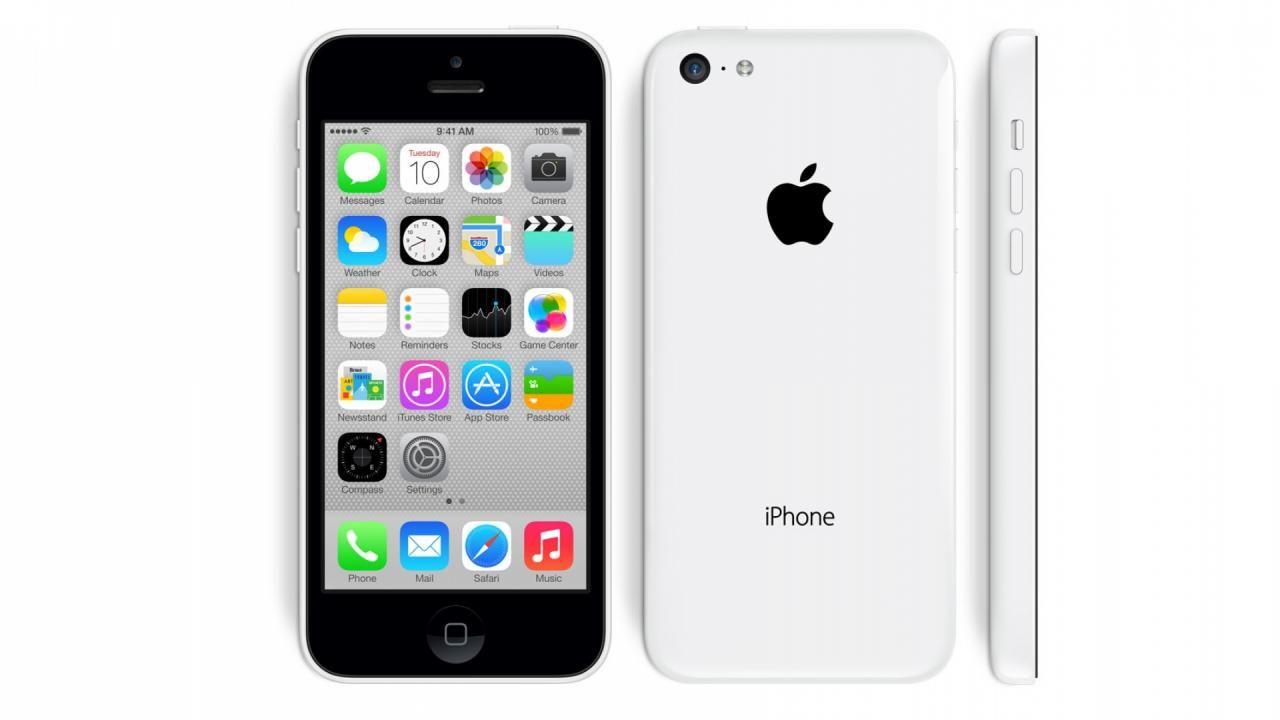 iPhone 5C white love my phone