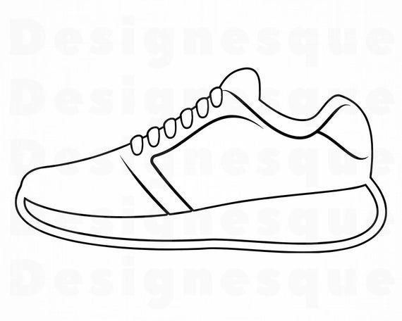 Sneaker Outline Svg Sneaker Svg Running Shoes Svg Sneaker Etsy In 2021 Running Shoes Drawing Shoes Clipart Shoe Template