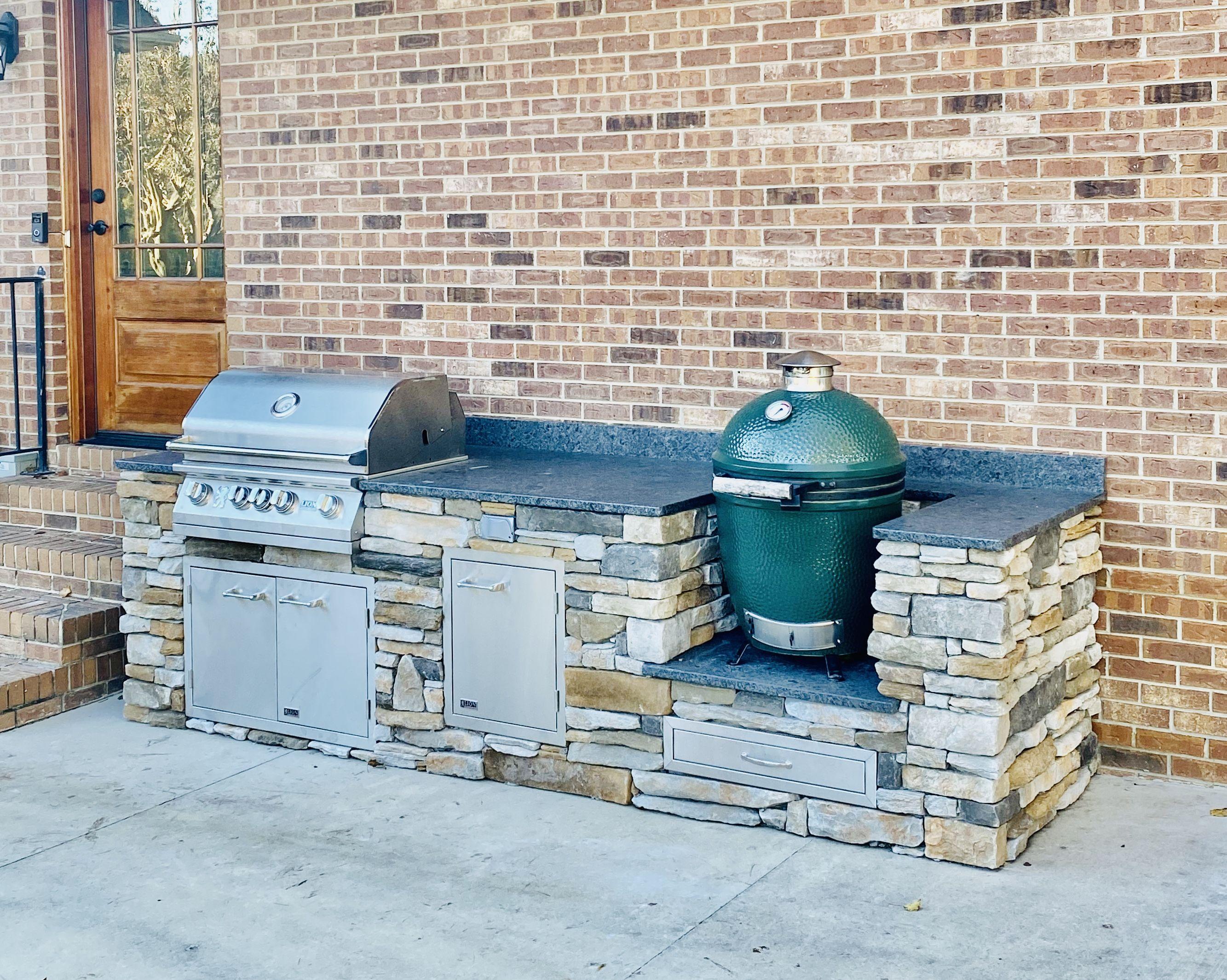 Outdoor Living Big Green Egg Outdoor Kitchen Outdoor Kitchen Patio Diy Outdoor Kitchen