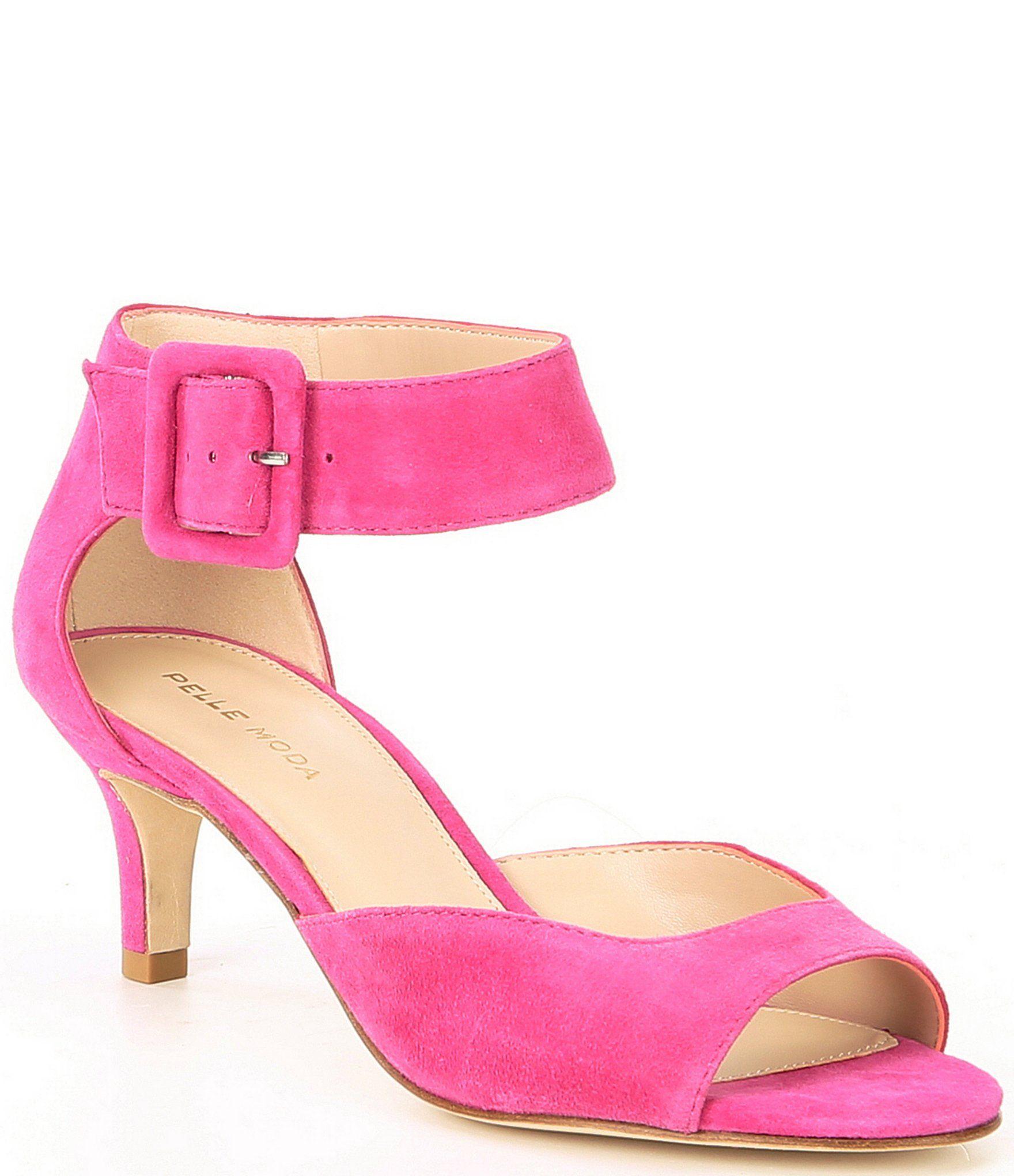 magenta kitten heels