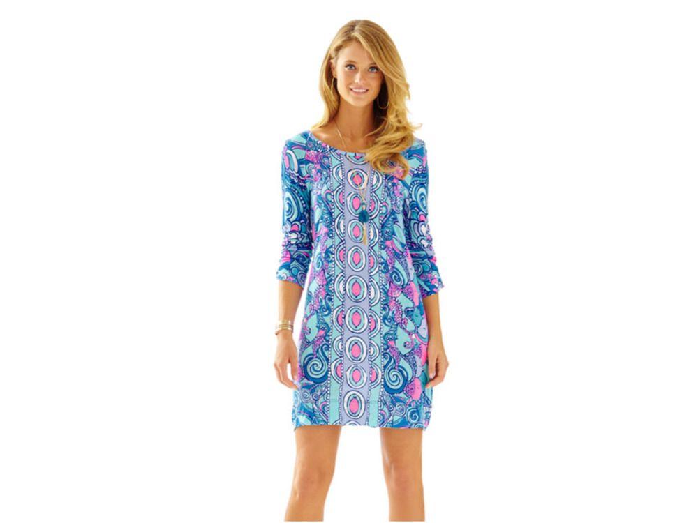 d3621e53067e95 Lilly Pulitzer XS SEA JEWELS Collection Shift Dress Pima Cotton Linden 🐬 # LillyPulitzer #Shift #Casual