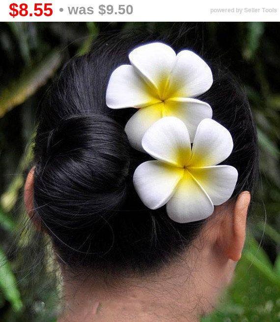 Sale Plumeria Frangipani Foam Flower Hair Clip Plumeria Hair Clip Hawaiian Style Hair Clip Plumeria Flower F Beautiful Flowers Flowers In Hair Foam Flowers