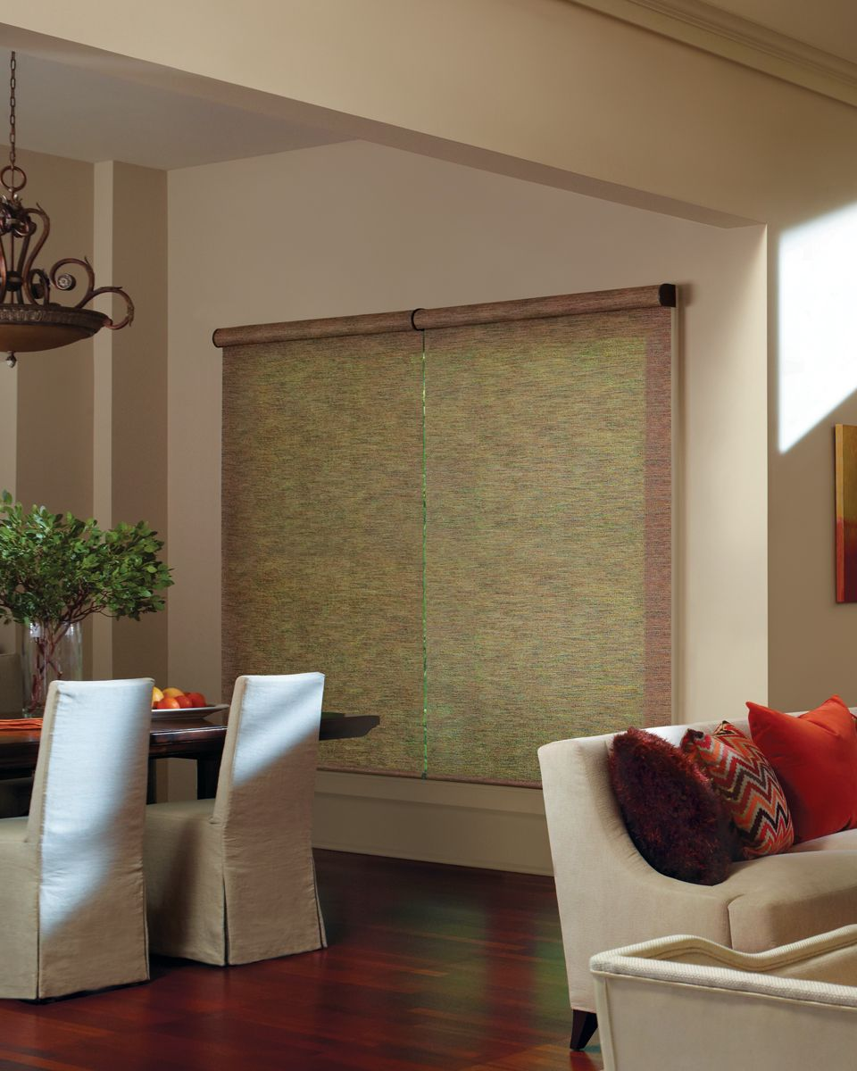 Dining room window coverings  designer screen shades  roller shades  pinterest  screens hunter