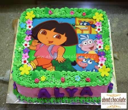 Fabulous Dora The Explorer Birthday Cake Met Afbeeldingen Verjaardag Funny Birthday Cards Online Alyptdamsfinfo