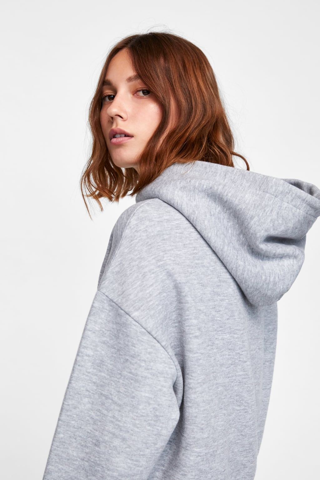 35c97a33 Image 5 of CROPPED HOODED SWEATSHIRT from Zara | Hairstyles ...