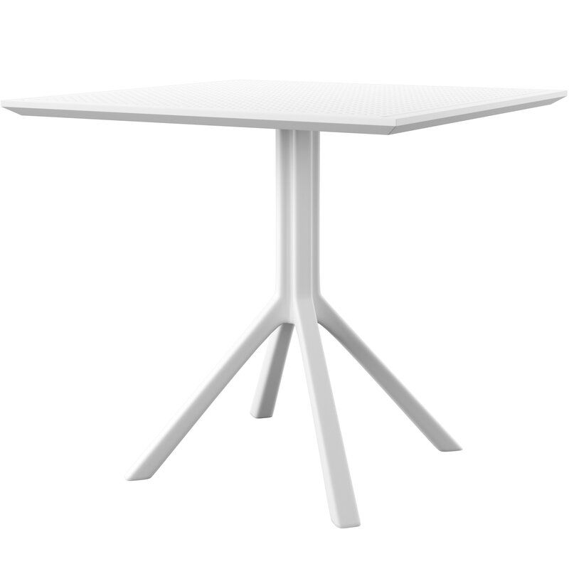 Curnutt Plastic Resin Dining Table Dining Table Concrete Dining