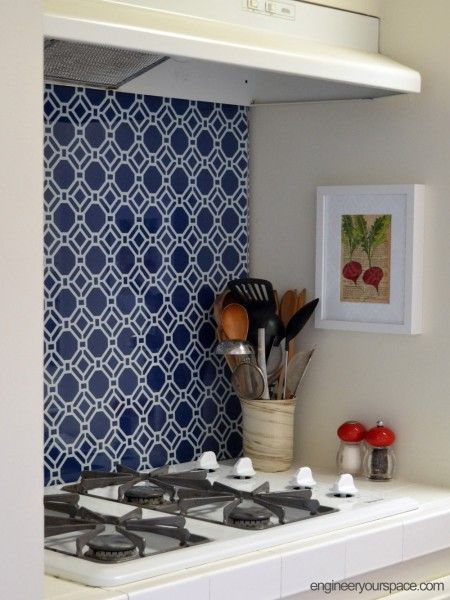 Temporary Kitchen Backsplash! Neat Idea For Apartments