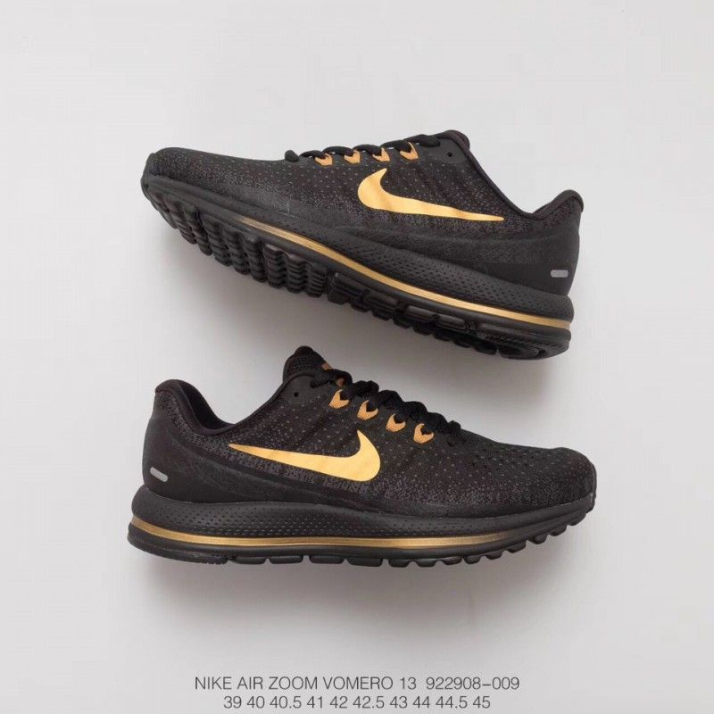 c03cd4bfdcdb 908 009 Nike Air Zoom Vomero13 V13 Air Mesh Breathable Cushioning Movement  Trainers Shoes Black Pale