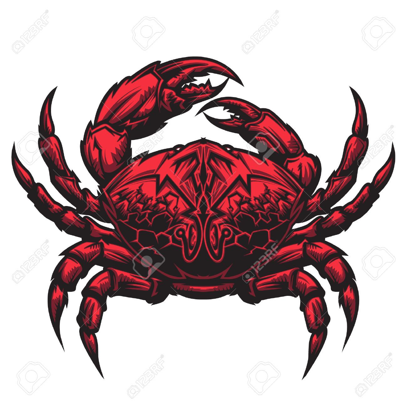 22351485 crab representing cancer zodiac sign or just a sharp cancer zodiac sign red crab representing cancer zodiac symbol according to the astrological study of the star constellation biocorpaavc Gallery