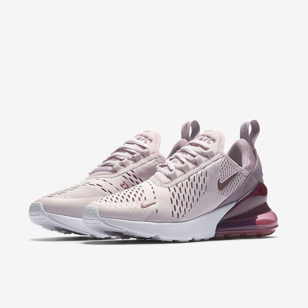 Air Max 270 Womens in Barely RoseVintage WineElemental