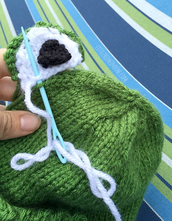 Funny Frog Hat Knitting Pattern | Baby hat knitting ...