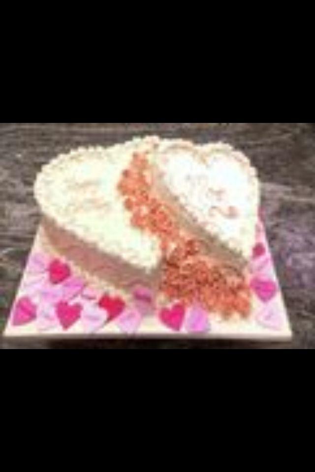 Double Heart Cake Cakeboss Cake Boss Cute Cakes Heart Cake