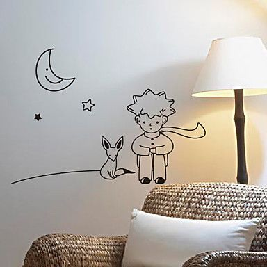 Cartoon the little prince wall stickers the little - Sticker petit prince ...
