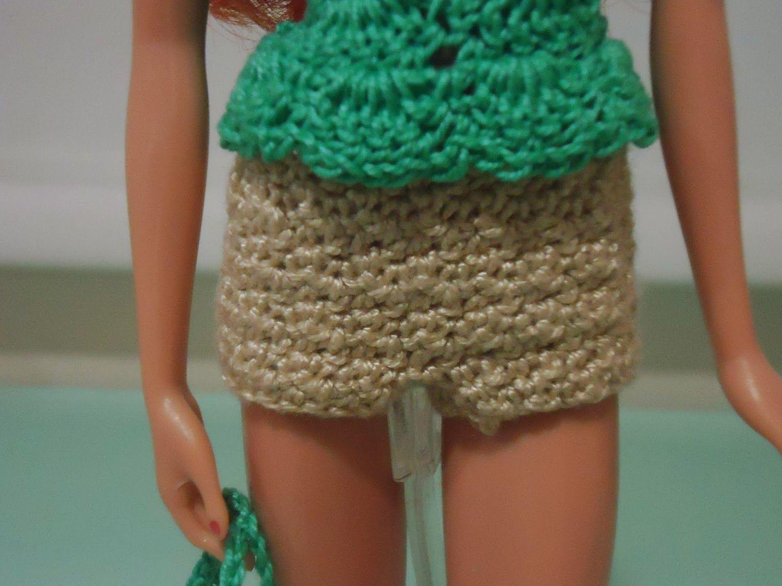 Fashion Doll Crochet Clothes: Barbie Mini Skirt Turned Into Shorts ...