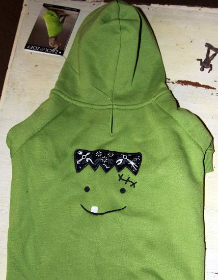 Frankenstein Halloween Dog Hoodie. $28.99, via Etsy.