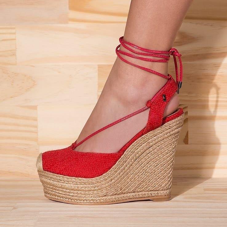 Gaimo Espadrilles Susan Suede High Wedges | Spanish Fashion