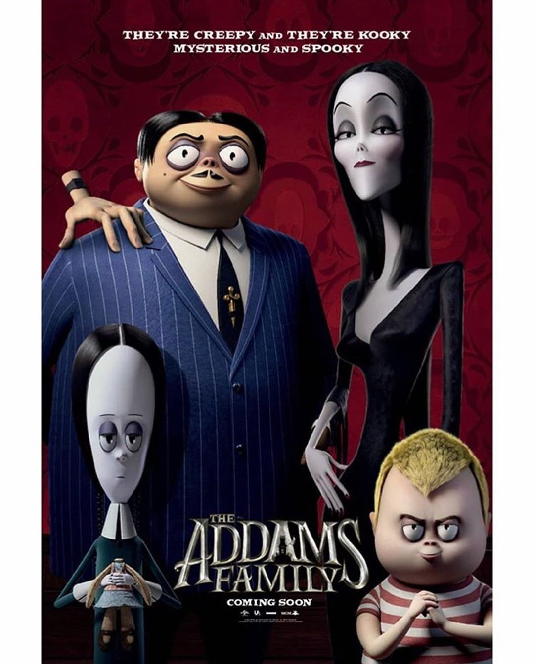 They Re All Together Ooky The Addams Family See Morticia Gomez Wednesday And Pugsley In The Family Movie Poster Addams Family Movie Addams Family Poster