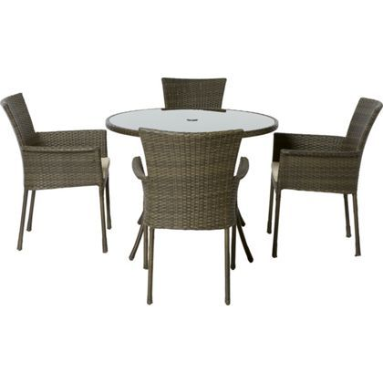 Mali Rattan Effect 4 Seater Garden Furniture Set Garden furniture