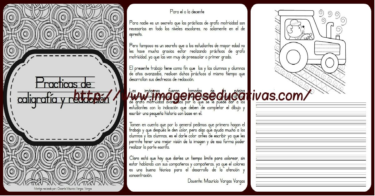 Librito Para Practicas Caligrafía Y Redacción. Imagenes