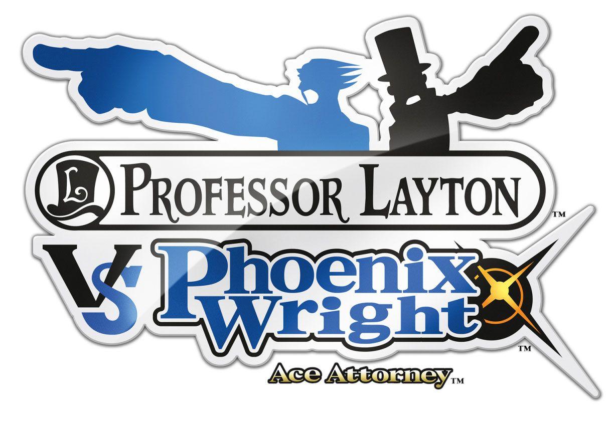 Logo Professor Layton Vs Phoenix Wright Ace Attorney Professor Layton Phoenix Wright Professor