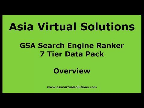 GSA Search Engine Ranker 7 Tier Data pack Overview by Asia Virtual Solutions - GSA SER 7 Tier - http://www.highpa20s.com/link-building/gsa-search-engine-ranker-7-tier-data-pack-overview-by-asia-virtual-solutions-gsa-ser-7-tier/
