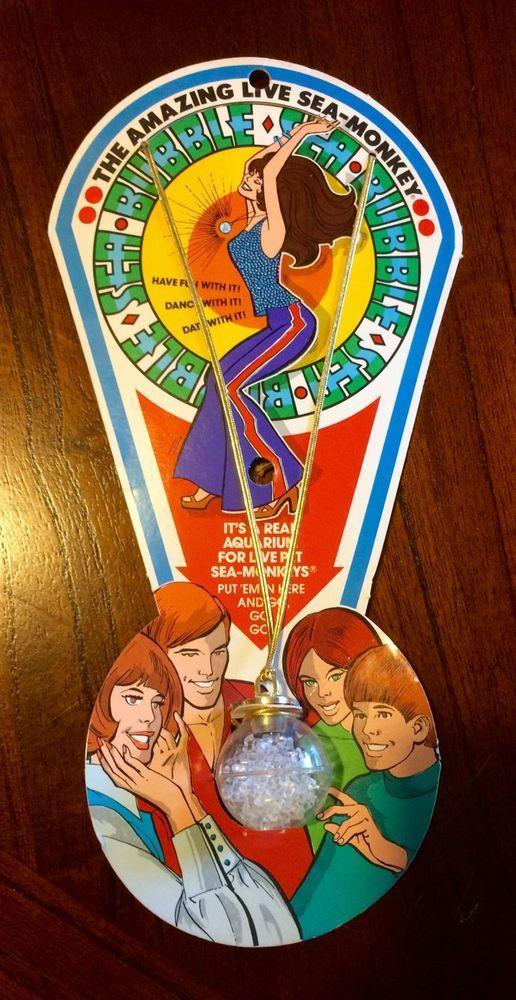 Vintage 70 S Amazing Live Sea Monkeys Sea Bubble Aquarium Necklace