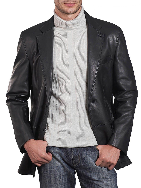 Single Button Men Leather Blazer Elegant Men Leather Blazer Leather Blazer Leather Jacket Men Leather Jacket [ 1440 x 1080 Pixel ]