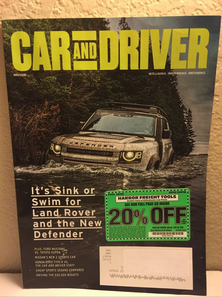 Car And Driver Magazine November 2020 It S Sink Or Swim For Landrover Defender Ebay Car And Driver Land Rover Land Rover Defender