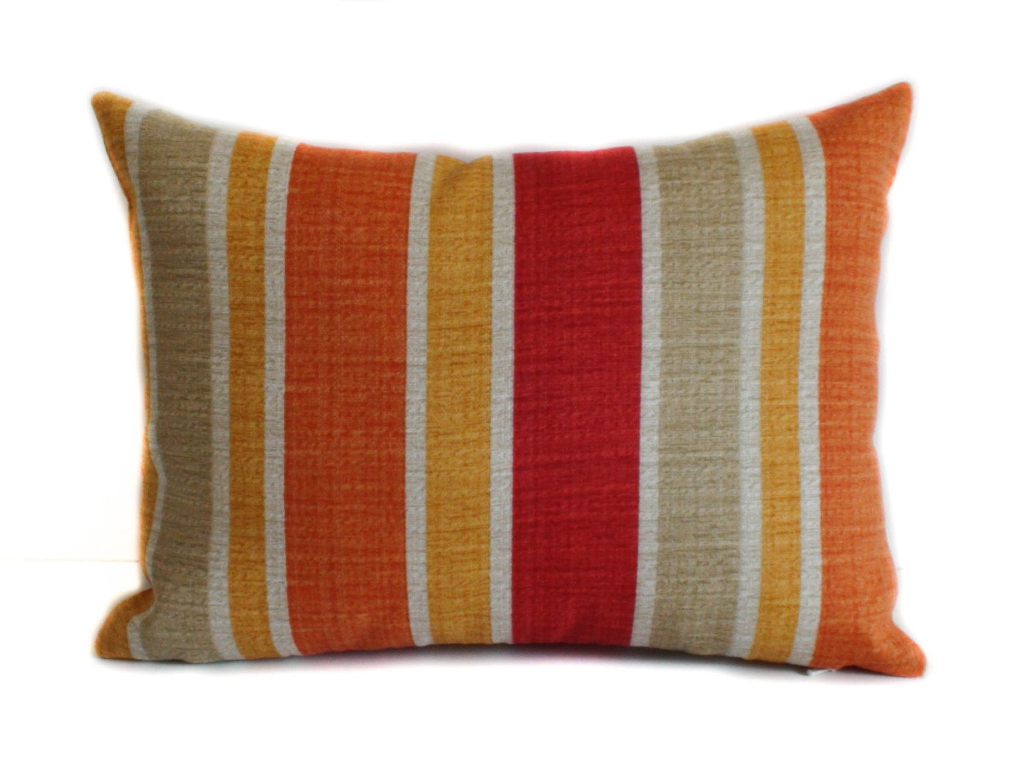 Etsy Throw Pillows Outdoor Pillow Cover 12x16 Red Outdoor Pillow Yellow Outdoor