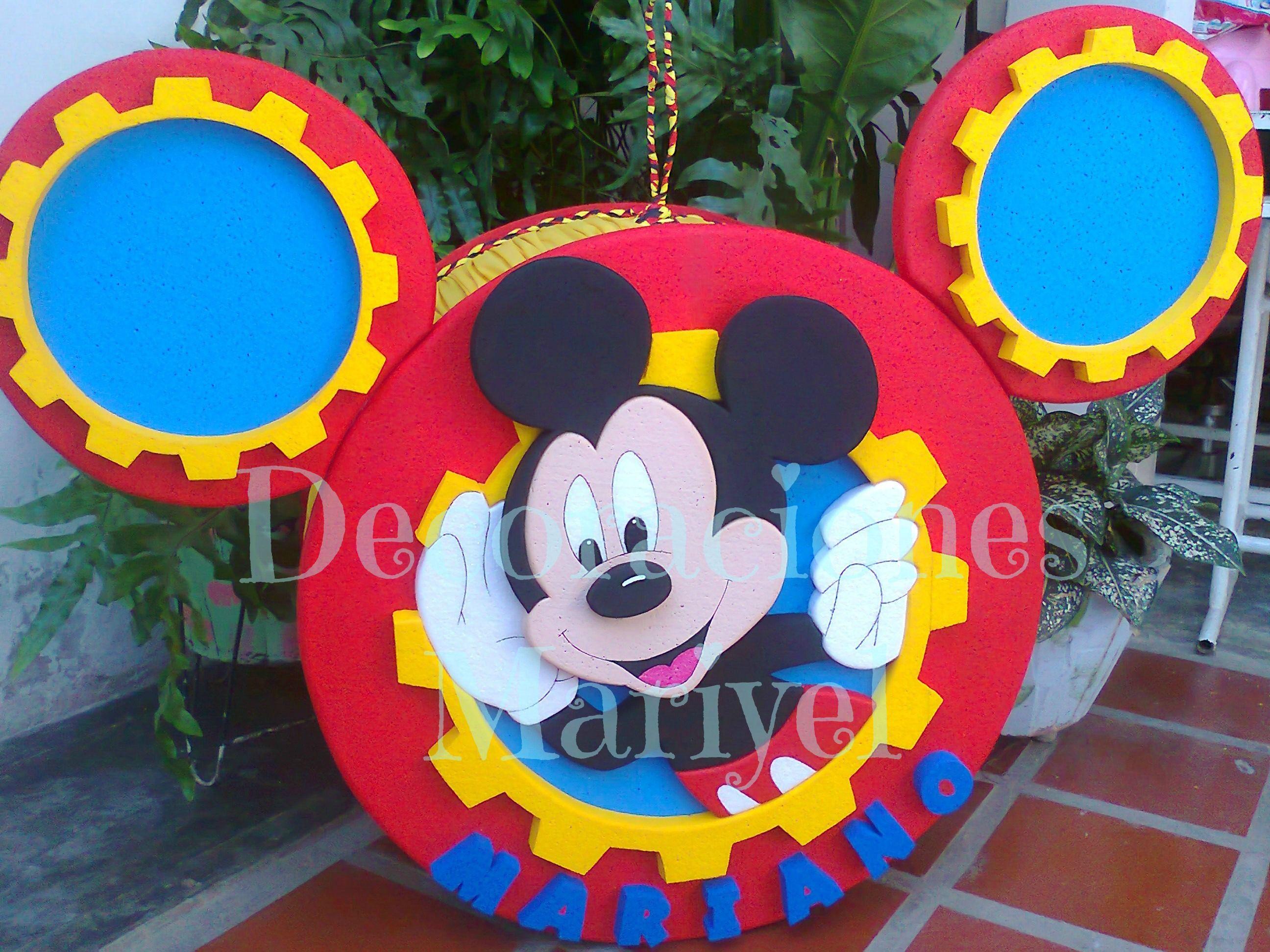 Pi atas de mickey mouse y sus amigos buscar con google for Decoracion de pinatas infantiles