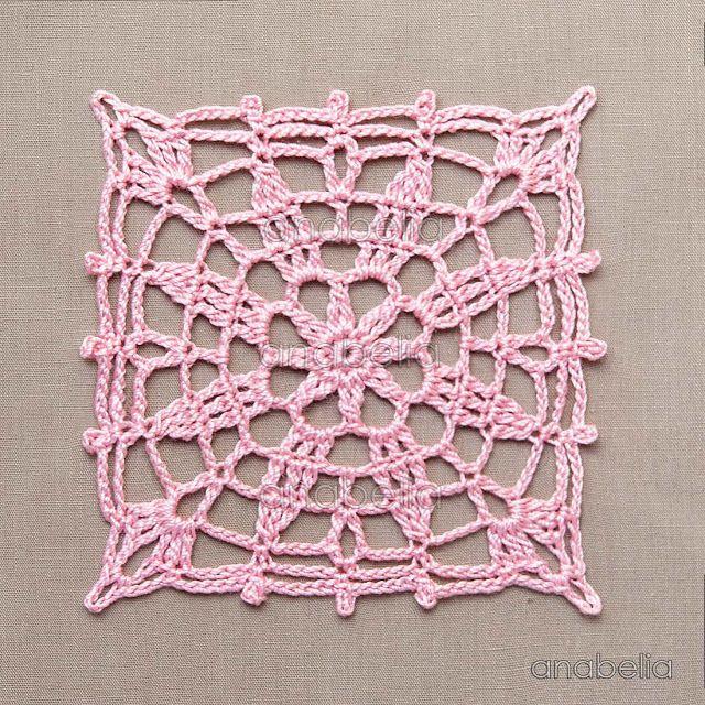 Crochet lace motifs free patterns by Anabelia Craft Design | crochet ...