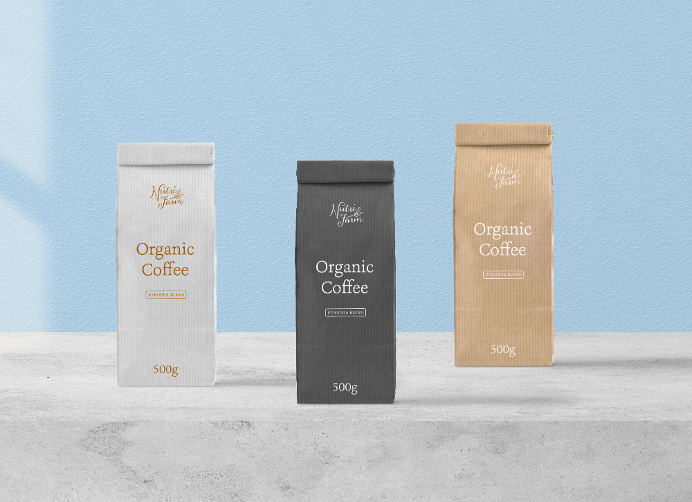 Download Free Kraft Paper Pouch Coffee Packaging Mockup PSD - Good ...