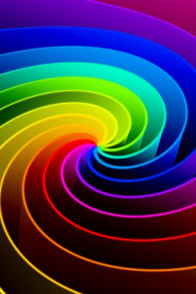 Spiral Rainbow Colors Vivid Colors Colorful Art
